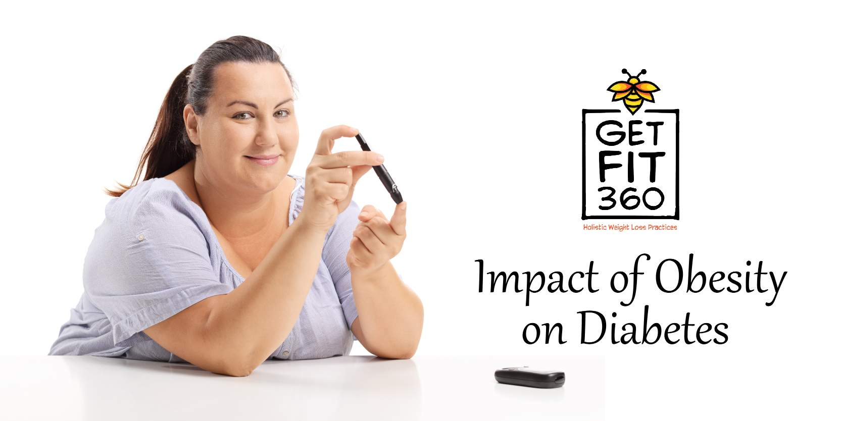 Lady checking her sugar levels using a diabetic monitor