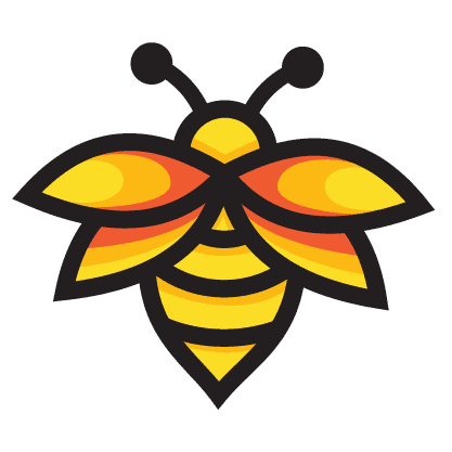image of a honey bee