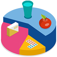 Vector image of easy diet plan that can be followed at Get Fit 360