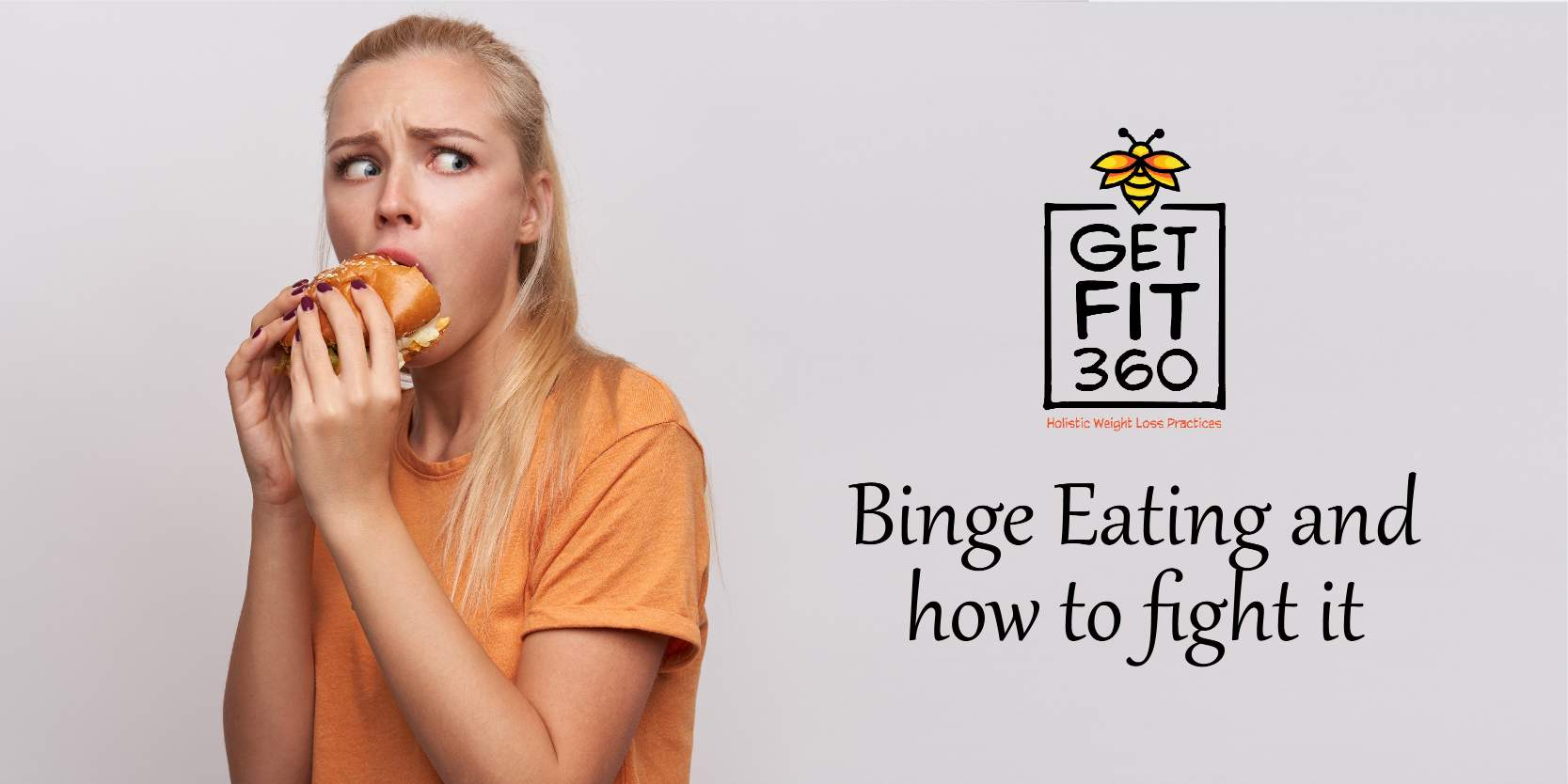 Picture depicting a girl eating a burger secretly and suffering from binge eating disorder