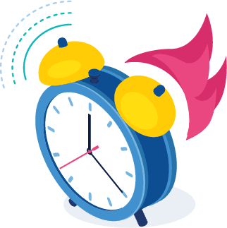 Image of an alarm clock to depict the 2 week live online meeting offered by Get Fit 360